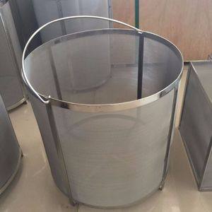 800 400 300 200 micron 304 316 stainless steel woven wire mesh baskets