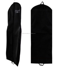 Hanging garment bag wedding dress cover clothes travel large zipper storage bag for gown birdal dress