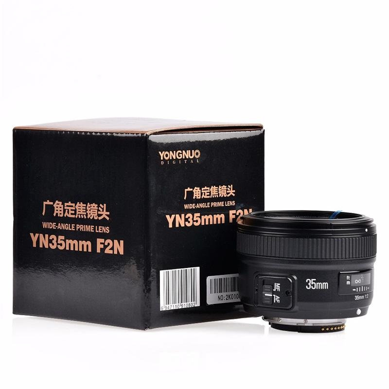 YONGNUO YN35mm F2.0 Wide-angle AF/MF Fixed Focus Lens for Nikon F Mount D7100 D3200 D3300 D5100 D90 DSLR Cameras 35mm F2N