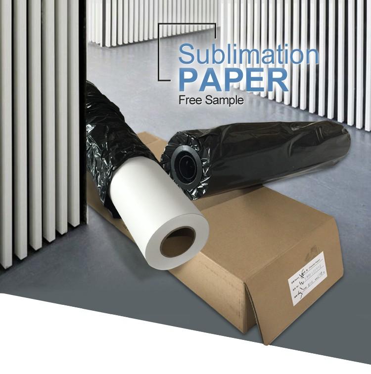 Impressão Melhor preço 100gsm sublimação rolo de papel feito na China