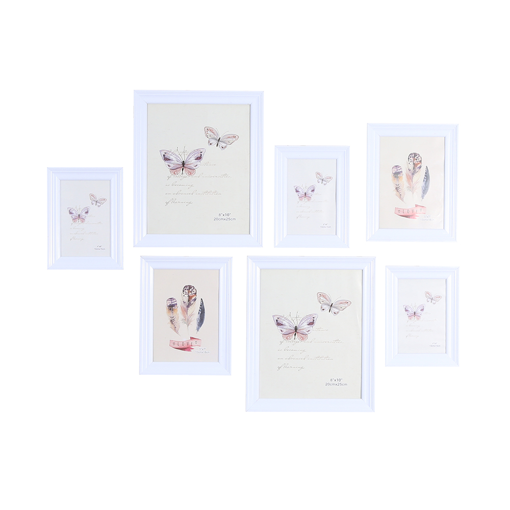 Yiwu Wall decoration freedom wooden art combination photo set multi picture photo frame