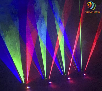 Cool acoustic effect 9 eyes rgb moving head spider laser light