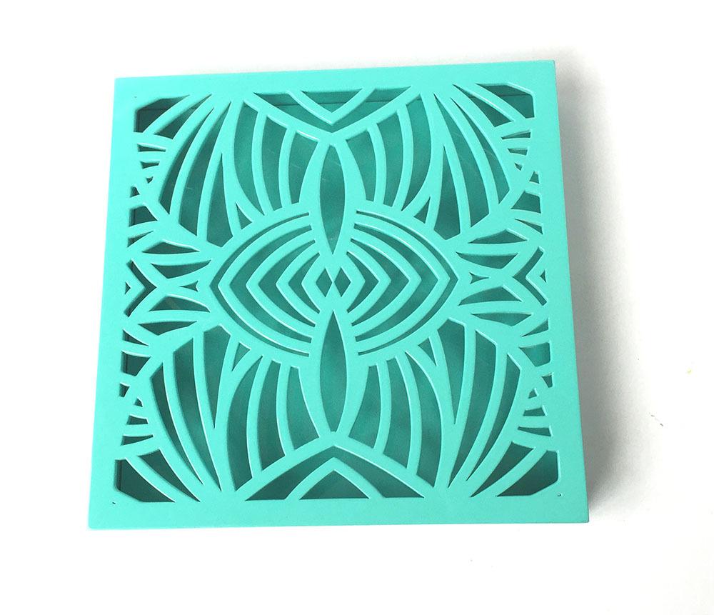 alta calidad verde caja de regalo del caramelo de madera grabado con tapa