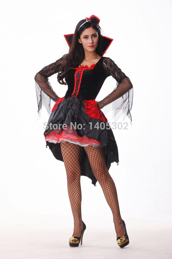 Buy 2015 Sexy Witch Costume Halloween V&ire Fancy Dress Black Puffy Devil Costume Adult Women Pirate Costume Retail u0026 Wholesale in Cheap Price on Alibaba. ...  sc 1 st  Alibaba & Buy 2015 Sexy Witch Costume Halloween Vampire Fancy Dress Black ...