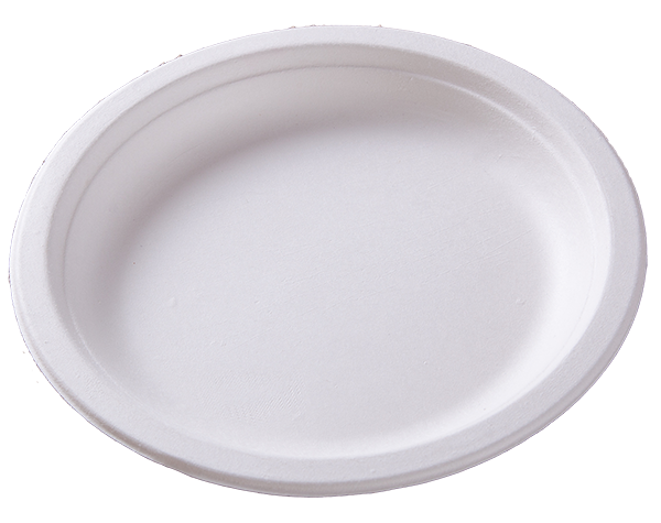 Biodegradable disposable compostable sugarcane bagasse 6 inch round plate