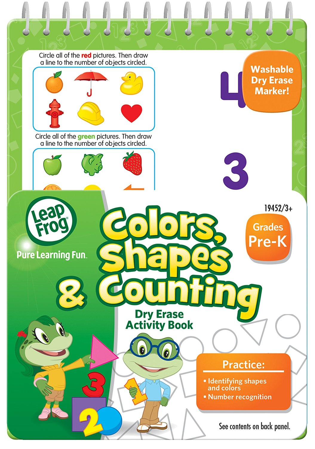 Buy LeapFrog Colors, Shapes and Counting Dry Erase Activity Book for ...