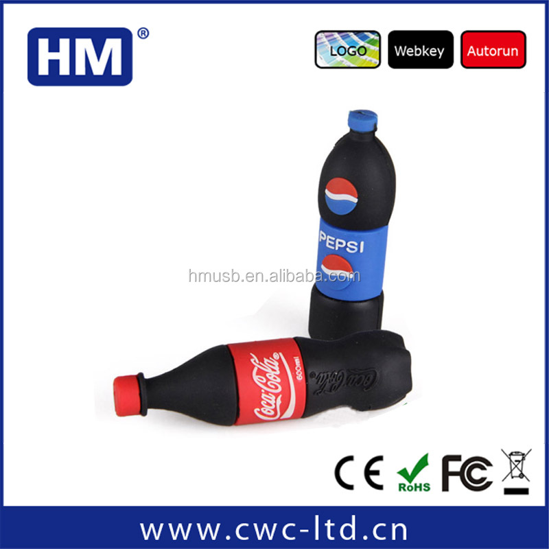 Bottle shape PVC usb flash drive for promotion