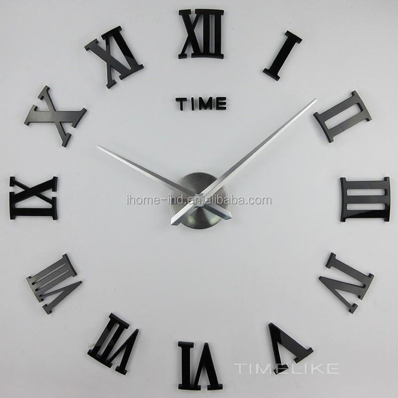 Bilangan Romawi Besar Mode Diy Jam Dinding Untuk Dekorasi Rumah - Buy Diy  Jam Dinding 5833f46507