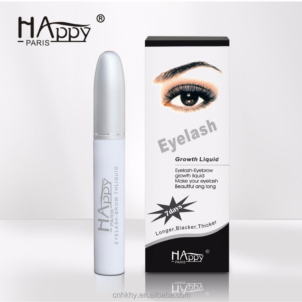Wolesale Brand Name Cosmetic Eyelash Growth Serums Happy Paris Eyelash-Eyebrow Growth Liquid Eyelash Enhancer Castor Oil