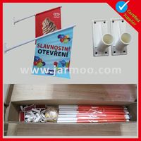 Factory directly Cheap mounted wall flag pole for sale
