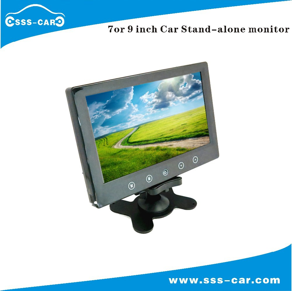 7 and 9 inch car stand alone lcd monitor with av input