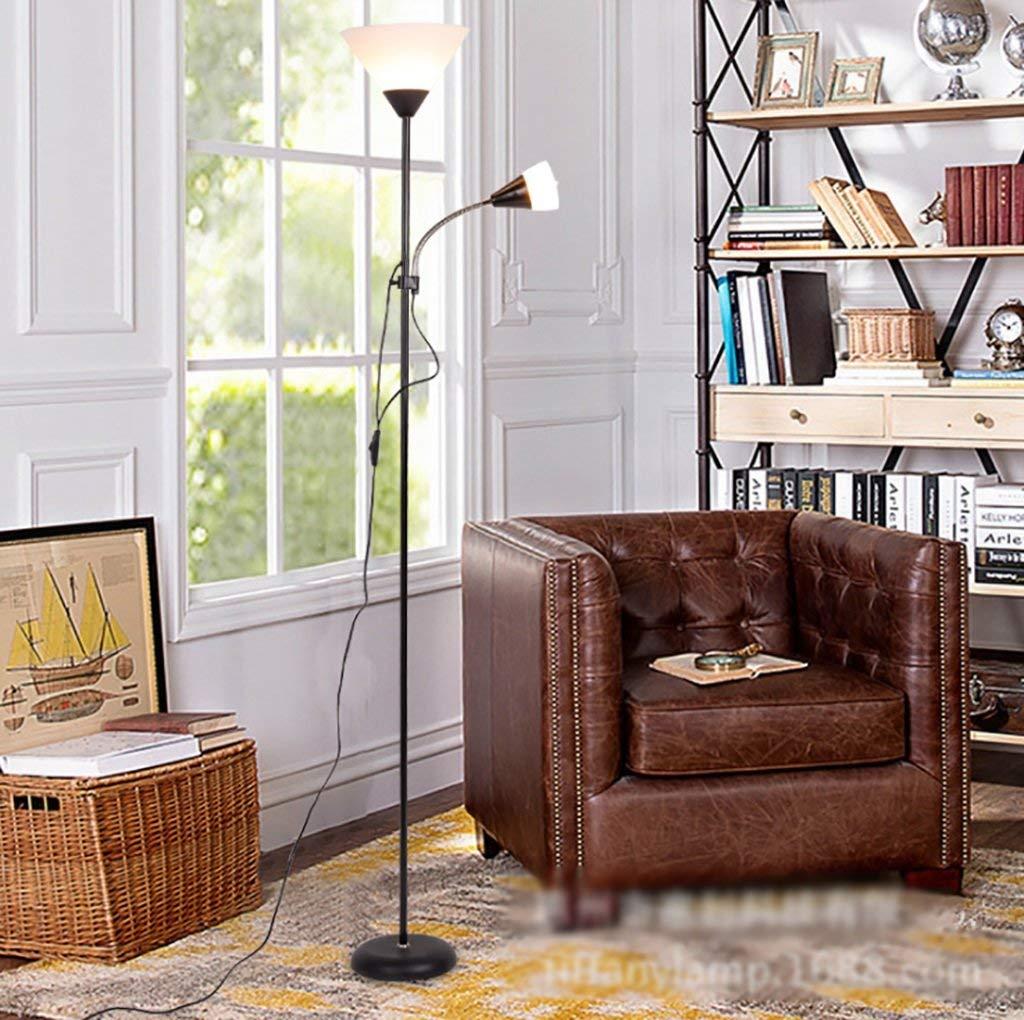 QYJZI Floor Lamps Floor lamp, black eye protection LED reading light, bedroom bedside, living room, study room lamp, home office fishing floor lamp size: 24178cm