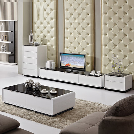 European style simple design tv stand wall unit living room made in china