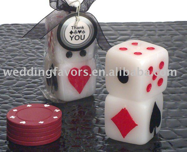 Dice Theme Vegas Candle Favors Buy Candlewedding Favors