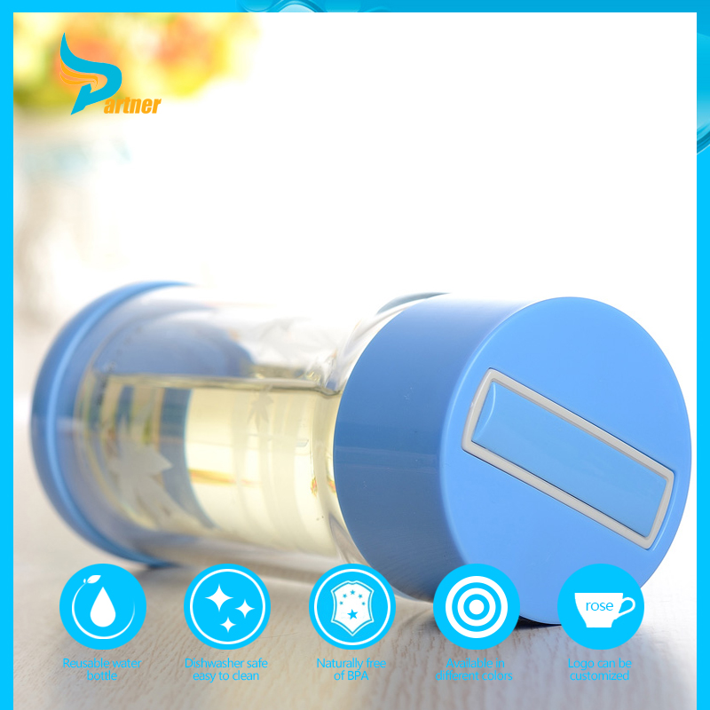 new design portable lovely sturdily built glass water bottle