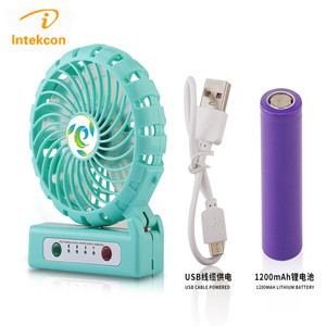 Portable Hand Held Electrical fanTable Folding Mini USB Rechargeable Hand Fan portable small fan