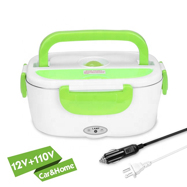 King-Check new product stainless steel electric lunch box food container 110V 12V home and car use food warmer heating food box