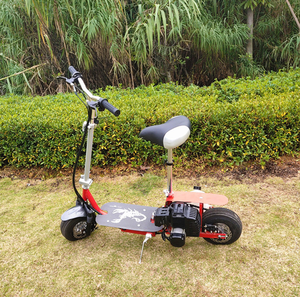 China cheap foldable 49cc benzine scooter with seats for adults