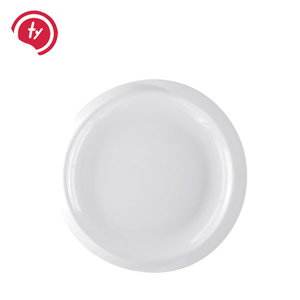 High quality white plastic melamine 7 9 11 inch round plates with trim