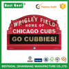 Chicago Cubs 11-By-17-Inch Go Cubbies Wood Sign Decorative wooden craft signs