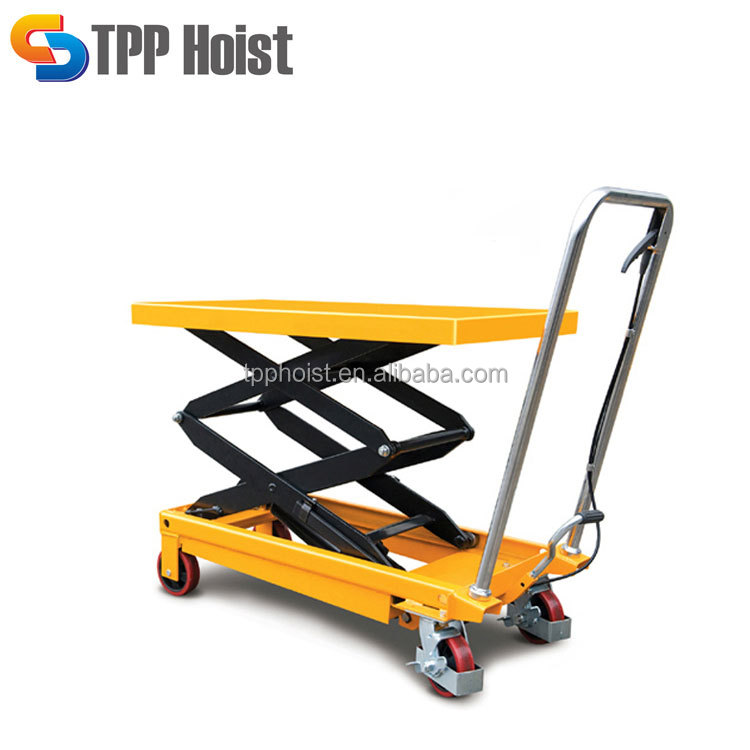 Trolley Type 500kg Hydraulic Hand Scissors Lift Table PTS500A For Sale