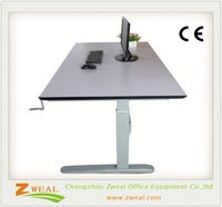 adjustable standing depot computer office desk height ergonomics
