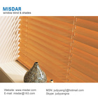 Motorized Wooden venetian blind, electric timber blind, automatic wood blind