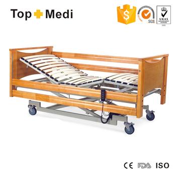 Hospital Beds Equipment Power Coating Mild Steel Frame Electric Wooden Bed