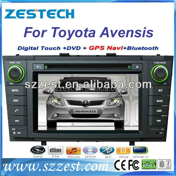 Hot sell Car pc for Toyota Avensis indash navigation car auto dvd cd player ZT-LF707