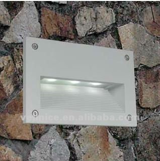 Contemporary Outdoor Ip55 3w Led Recessed Wall Light With Ce And ...