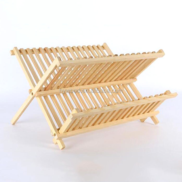 first class kitchen tool foldable wooden dish drying rack