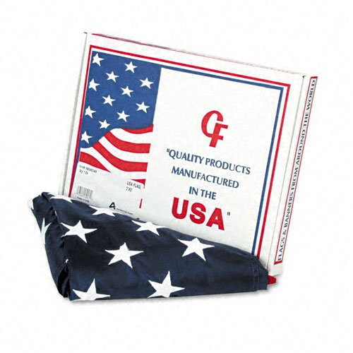Advantus Products - Advantus - All-Weather Outdoor U.S. Flag, 100% Heavyweight Nylon, 3 ft. x 5 ft. - Sold As 1 Each - All-weather flag made of 100% heavyweight nylon. - Sewn stripes and embroidered stars. - White canvas heading is fitted with brass grommets. - Made in U.S.A. -