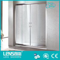 cost-effective shower and toilet cabin & Sliding door glass shower partition Wing P42