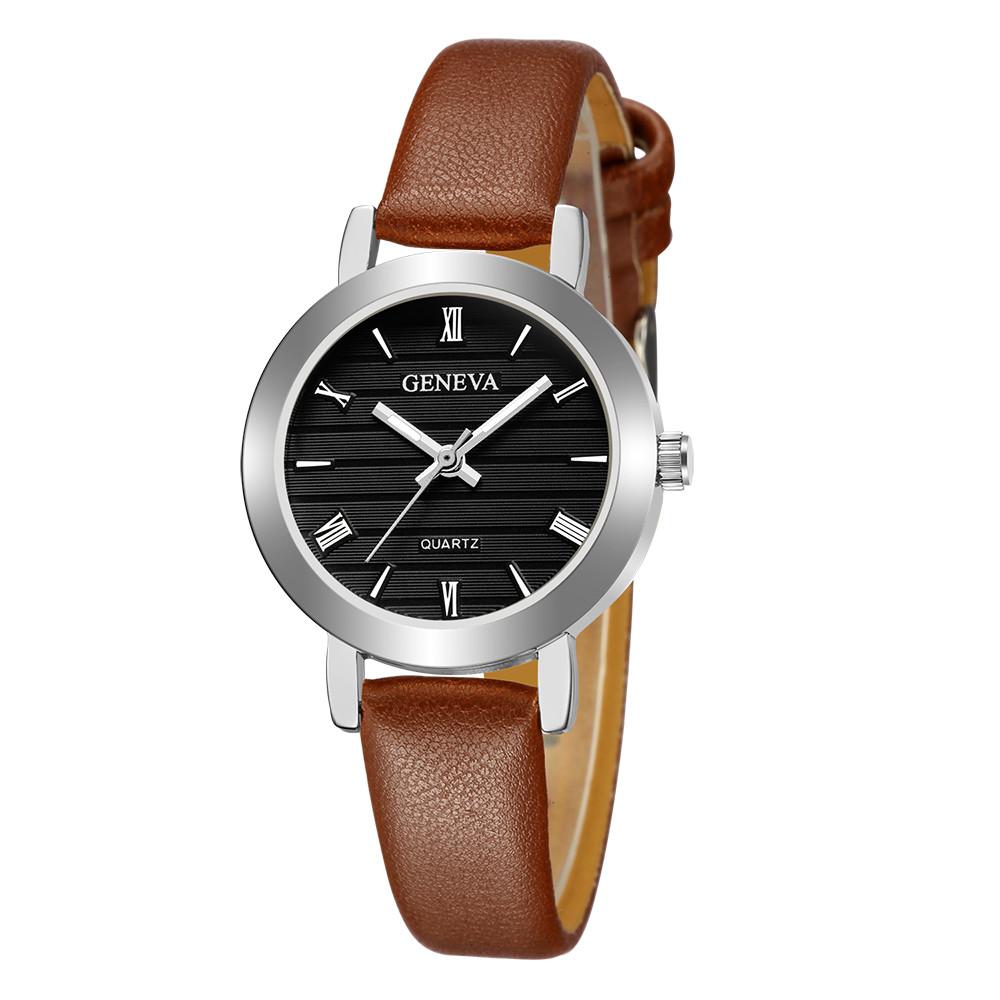 fcbddc9fd250 1PC New Classic Womens Geneva Rhinestone leather Quartz Wrist Watch(Without  retailing packing)