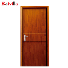 New design Chinese cheap solid wood apartment interior door polish design