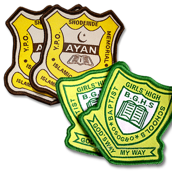 Professional Custom Private LOGO Woven School Badges With Factory Price