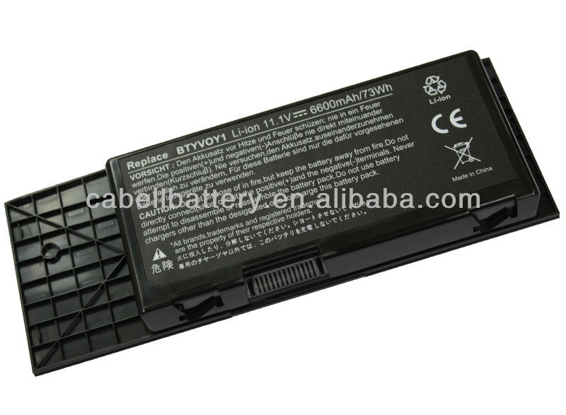 hot sale high quality 9cells newest Genuie notebook battery/laptop battery replacement for Dell Alienware M17x C852J F310J H134J