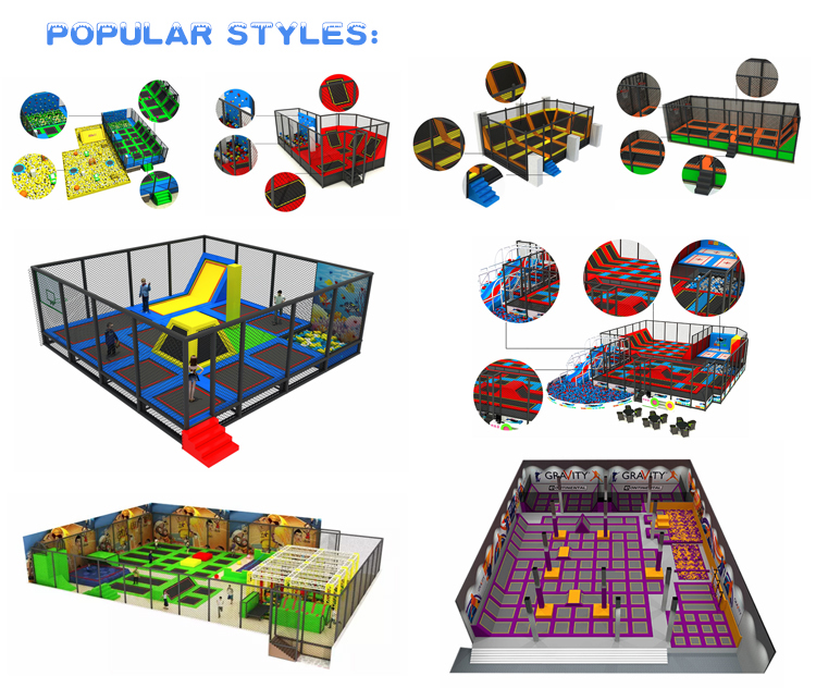 China Manufacturer Large Indoor Rectangular Trampoline Park with Foam Pit