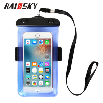 Alibaba wholesale phone waterproof bag with armband 6inch hand free design PVC waterproof cell phone bag promotional gift