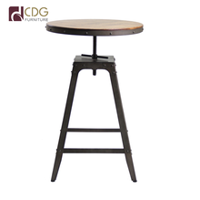 Customized vintage industrial metal high bar stool and table for bar furniture
