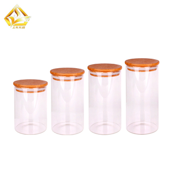 500ml 700ml 1000ml round honey/pickles glass jar with sealed lid