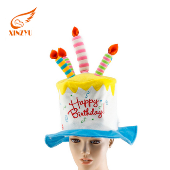 Wholesale Adult Birthday Cakes Hats Musical Hat With Flashing Candles
