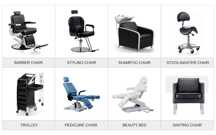 Comfortable hair washing chair salon furniture white  hydraulic reclinable styling beauty salon chair