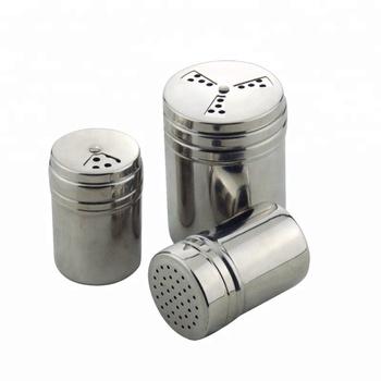 Wholesale Custom Shakers Funny Stainless Steel Salt Pepper Shaker