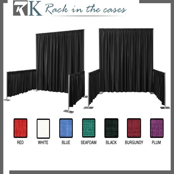 Led Light Black Curtain Fabric For Trade Show Tent With Hardware ...