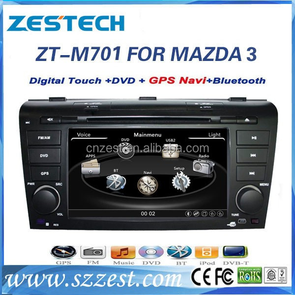 7 inch car dvd car radio cd player for MAZDA 3 2004-2009 car dvd gps navigation TV/BT/MP3/4 radio cd player