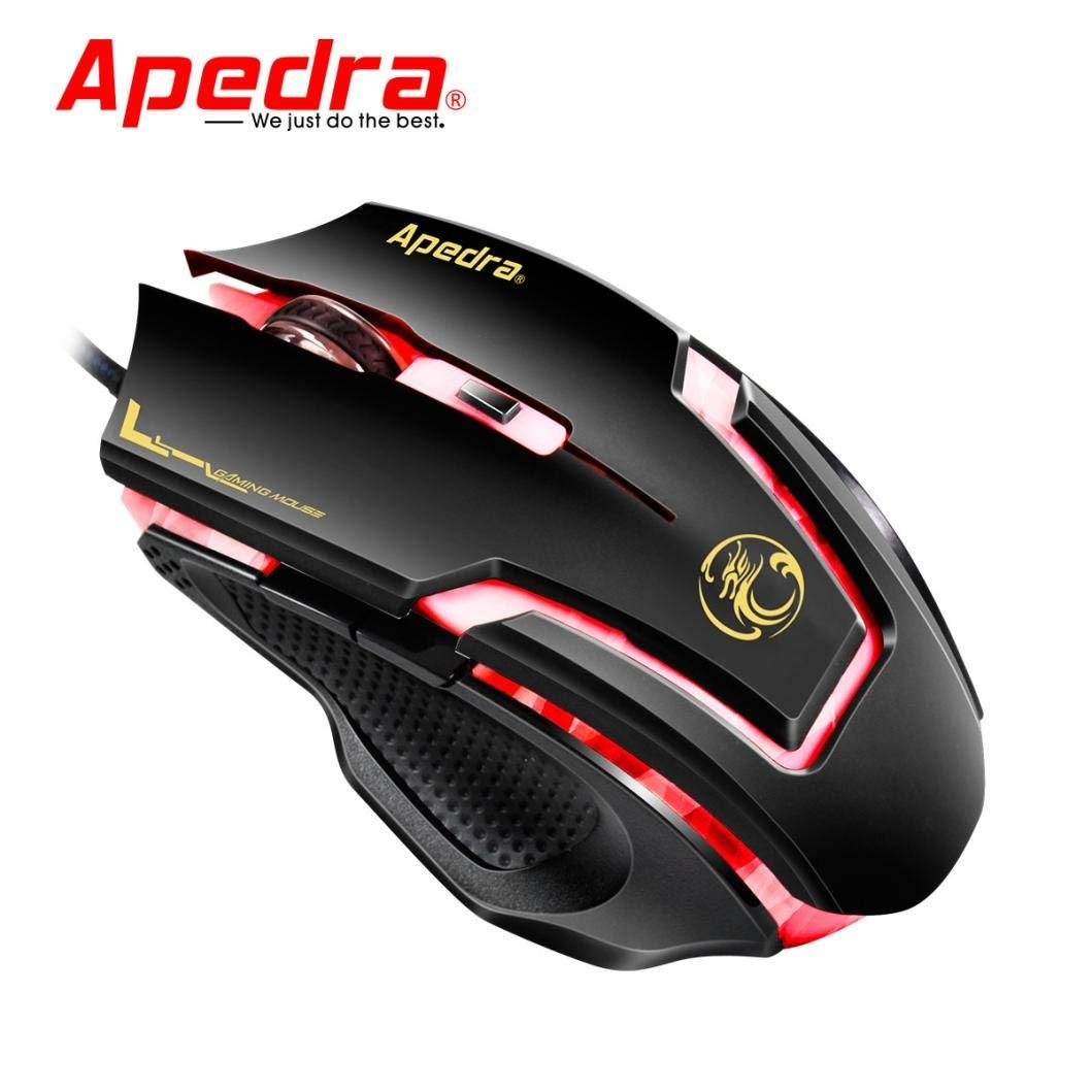 Cywulin LED Optical 6D USB Wired Gaming Game Mouse for PC,Laptop, Notebook, Desktop, Tablet
