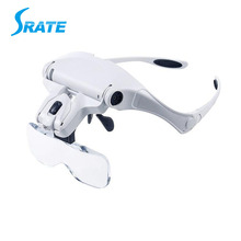 Interchangeable 5 Replaceable Lenses LED Headband Magnifier Head Mount Magnifier For Lash Extension