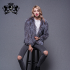 2019 Special Design Factory Price Silver Fox Fur Knitted Women'S Winter Fur Coat Jackets