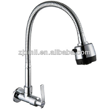 Cold Water Brass Cold Sink Tap, Chrome Finish, 360 Degree Turn and 2 Functions Flow, X5033K2